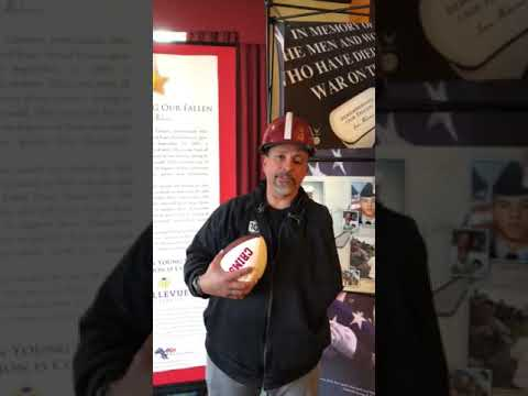Wounded Veteran Thanks LotUSA for the Autographed Football
