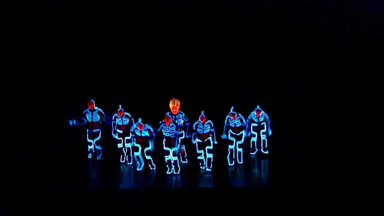 Robot Dance using Neon Lights