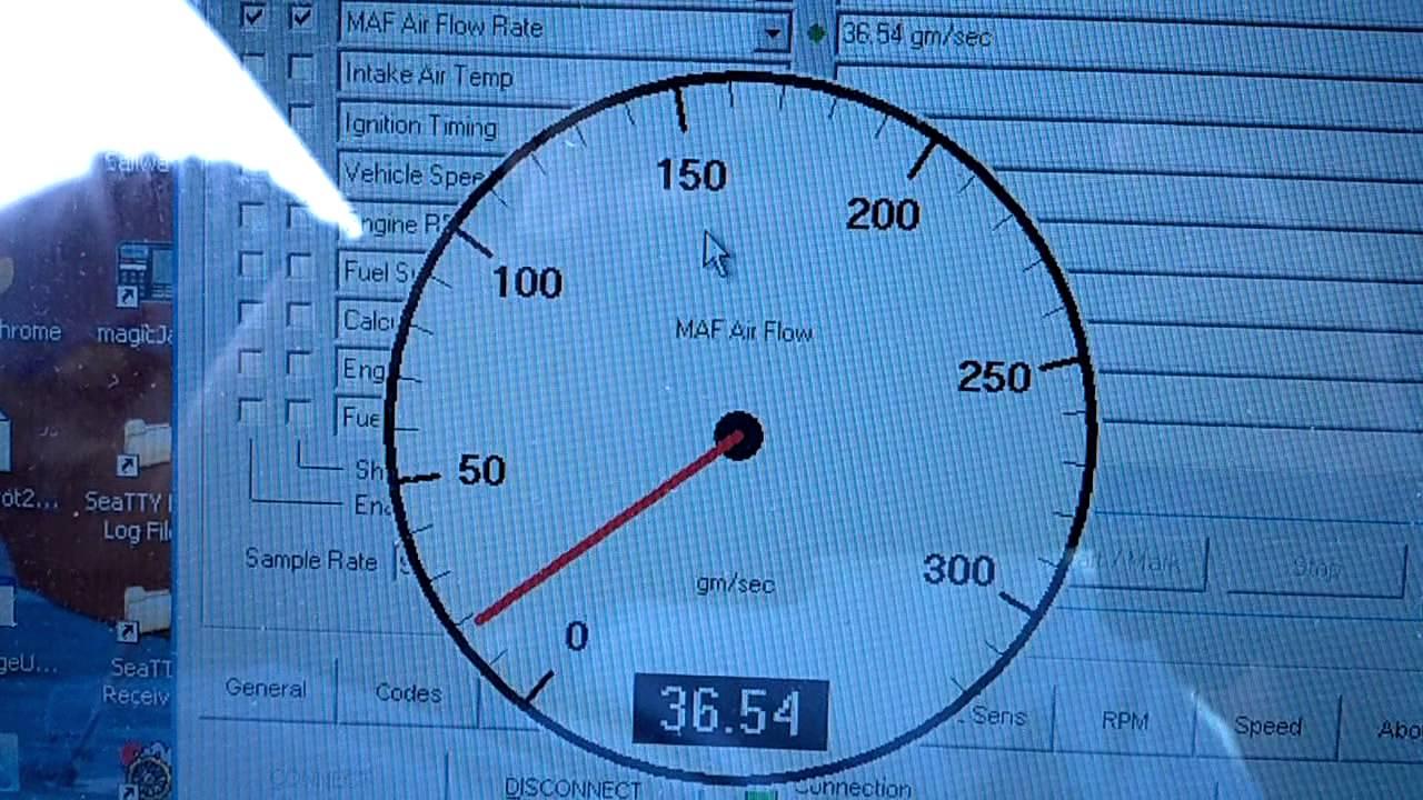 Mass air flow gauge - YouTube