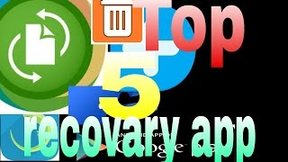 ||Top 5 Recovry app || How to recover deleted photos from Android device Latest Trick ||Hindi||