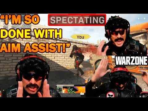 DrDisrespect Spectates AIM ASSIST Controller Player & Rages At Crossplay In Warzone!