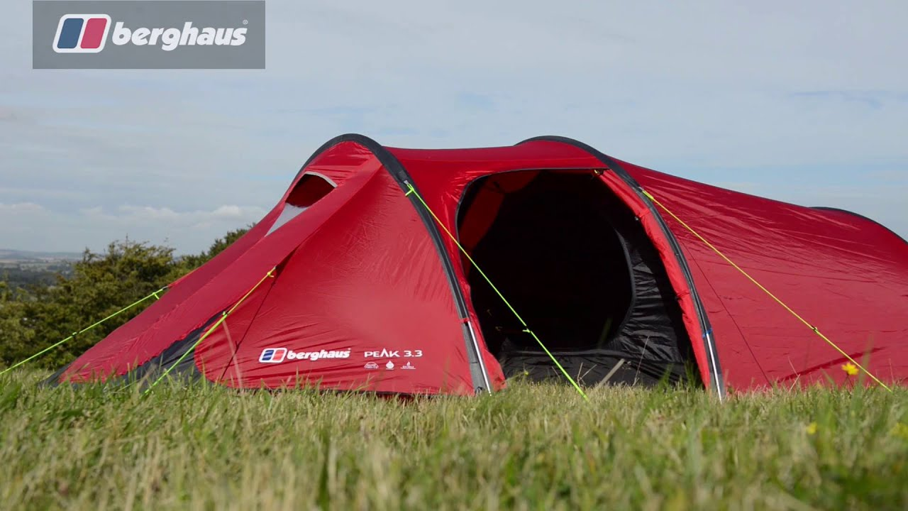 Berghaus Peak 3.3 3 Man Tent Tents