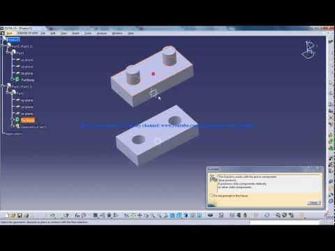 Catia V5 Tutorials|Assembly Design|Top Down Approach