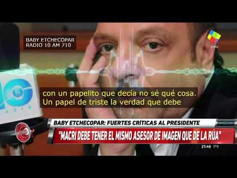 Baby Etchecopar: Macri nos va a terminar matando