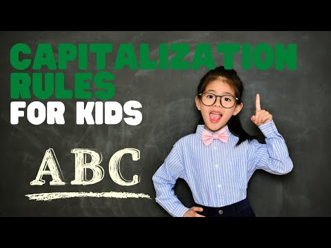 Capitalization Rules For Kids | Learn The Capitalization Rules In A Fun Interactive Video For Kids