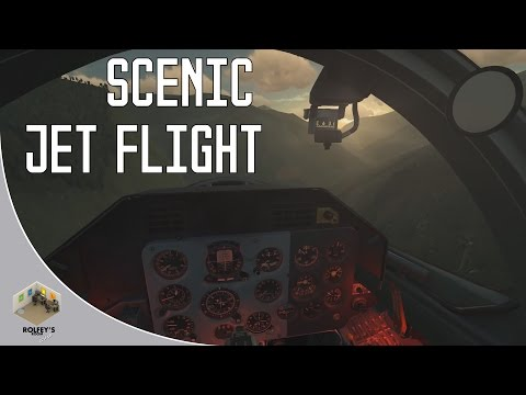 Scenic jet flight | Whisper ASMR