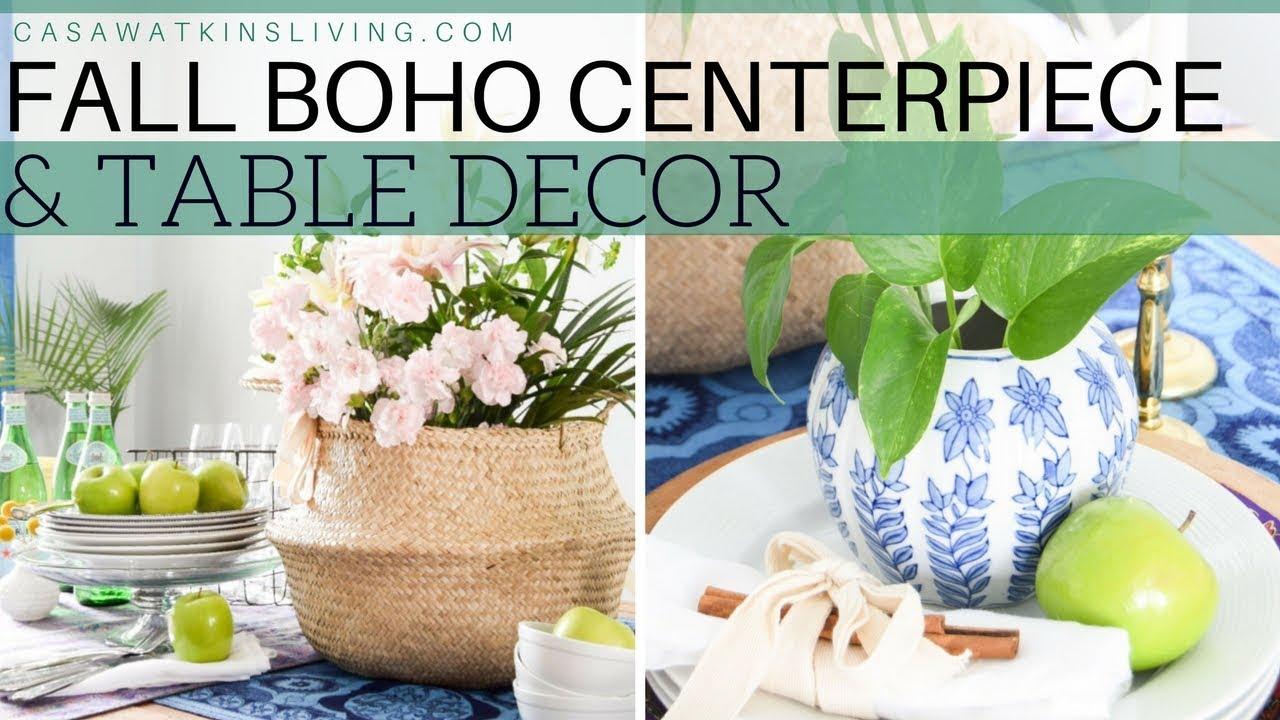 Fall Boho Centerpiece And Table Decor Fall Diy Decor