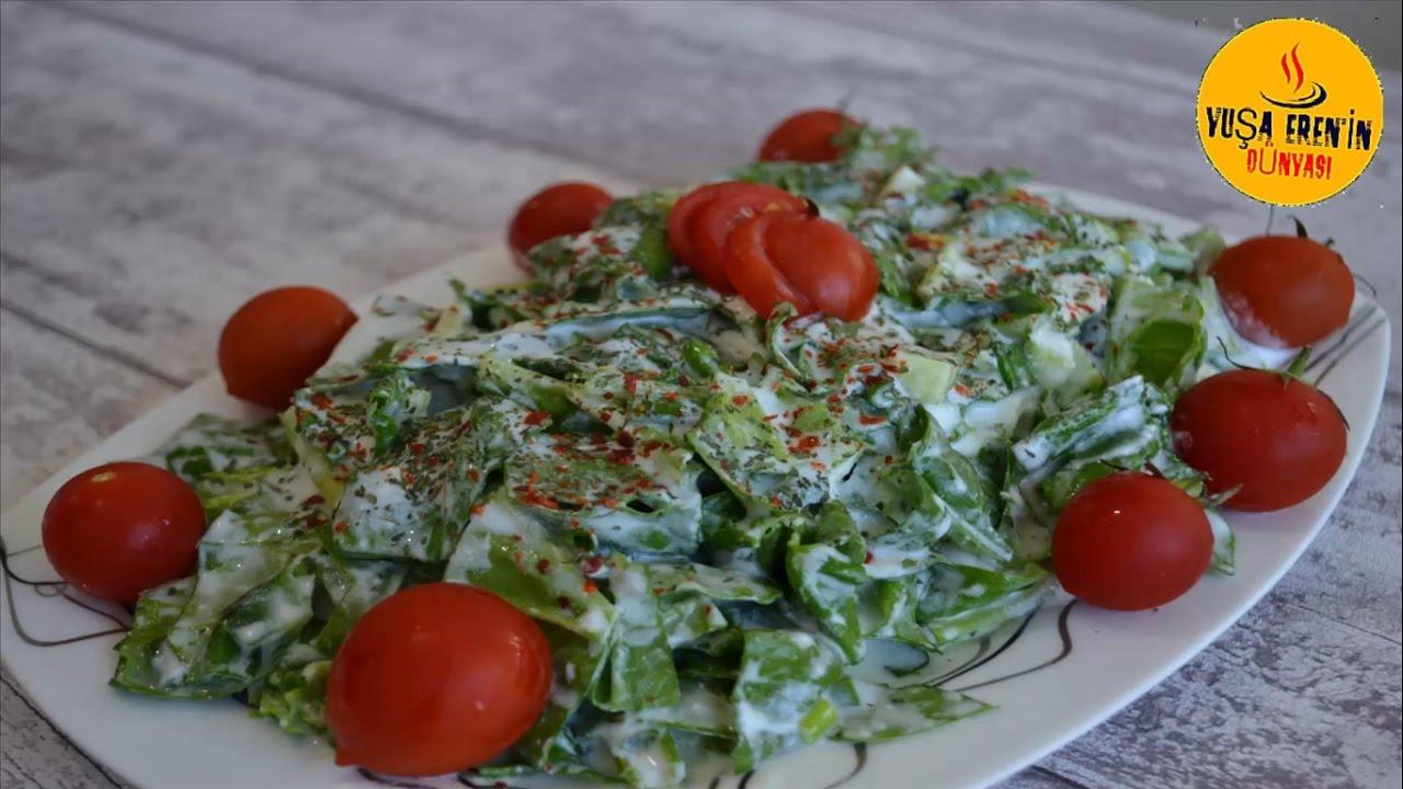 Ispanak Salatası Yapılışı Videosu