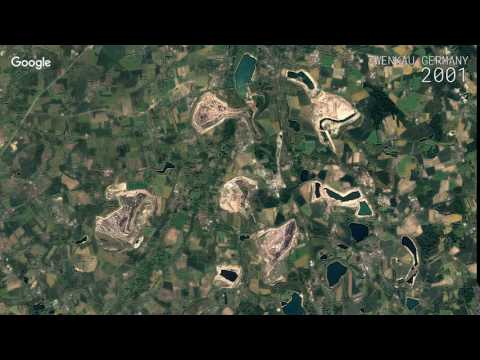 Google Timelapse: Zwenkau, Germany
