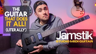 One GUITAR that plays EVERY INSTRUMENT!! [Jamstik Studio Midi Guitar Demo & Review]