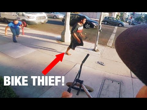 BIKE THIEF CAUGHT RED HANDED (BMX IN THE HOOD)