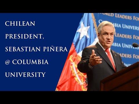 Chilean President, Sebastian Piñera at Columbia University