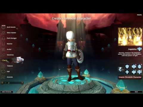 Dragon Nest – Character Creation Screen (2017) (New Screen/New Dark Class)