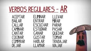 Liste Des Verbes Reguliers Et Irreguliers En Espagnol Apprendre Espagnol Youtube
