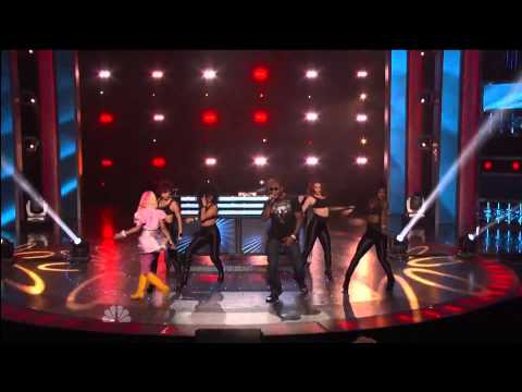 David Guetta Nicki Minaj & Flo Rida - America's Got Talent: Where Them Girls At Live Performance