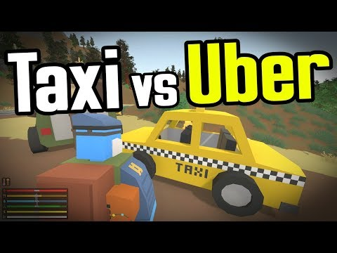 TAXI vs UBER vs CHAINSAW - Unturned Germany Map - Ep. 18
