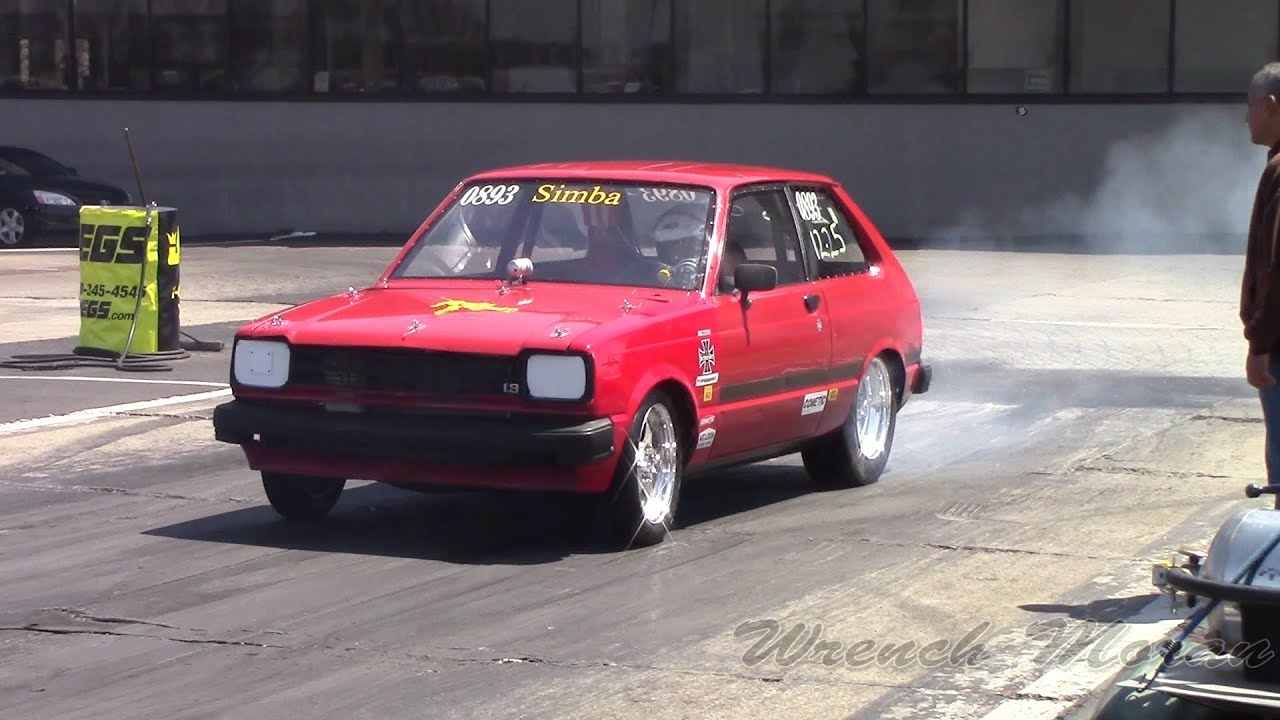 Toyota Starlet │ Drag Racing at Import Face Off 2014 - YouTube