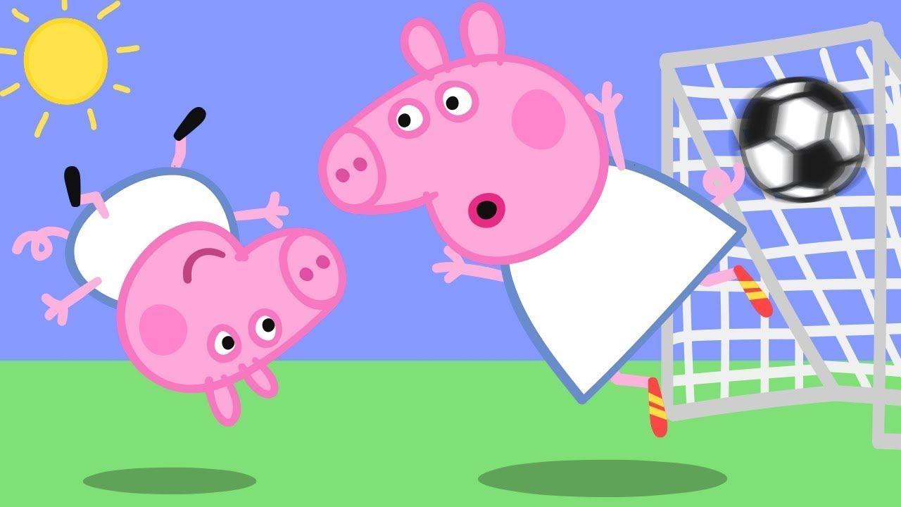 Georges verrücktes Ziel! ⚽️ Cartoons für Kinder   Peppa Wutz Neue Folgen