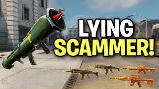 Exposing a Huge Lying Scammer! (Scammer Get Scammed) Fortnite Save The World