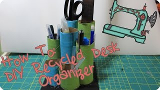Diy Recycled Desk Organizer