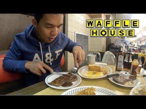 Đi ăn khuya ở Mỹ    Đi ăn WAFFLE HOUSE - ATLANTA, USA