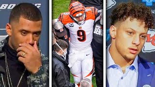 NFL Players REACT to Joe Burrow's HORRIFIC Knee Injury (Patrick Mahomes, Russell Wilson & more)