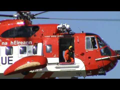 Irish coast guard in Waterford town
