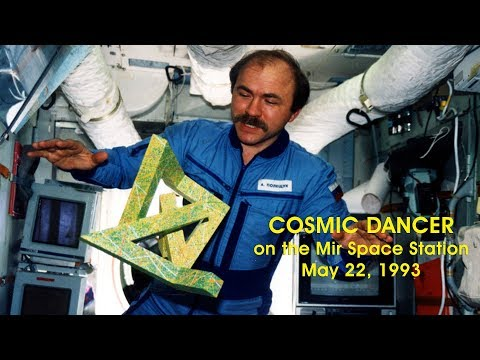 Cosmic Dancer on the Mir Space Station - Space Art in Earth Orbit