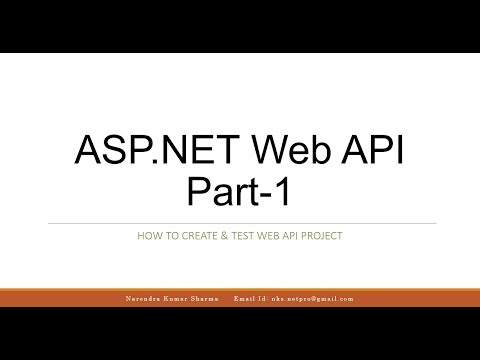 ASP.NET Web API Part 1 - Create & Test ASP.NET Web API Project