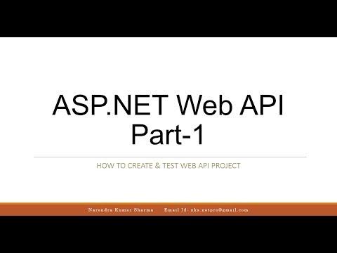 ASP.NET Web API - 1 : Create & Test ASP.NET Web API Project