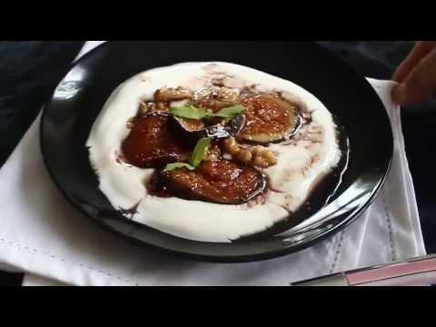 recettes-aux-figues-/-dessert-de-figues-caramélisées-avec-noix-et-yaourt-grecque