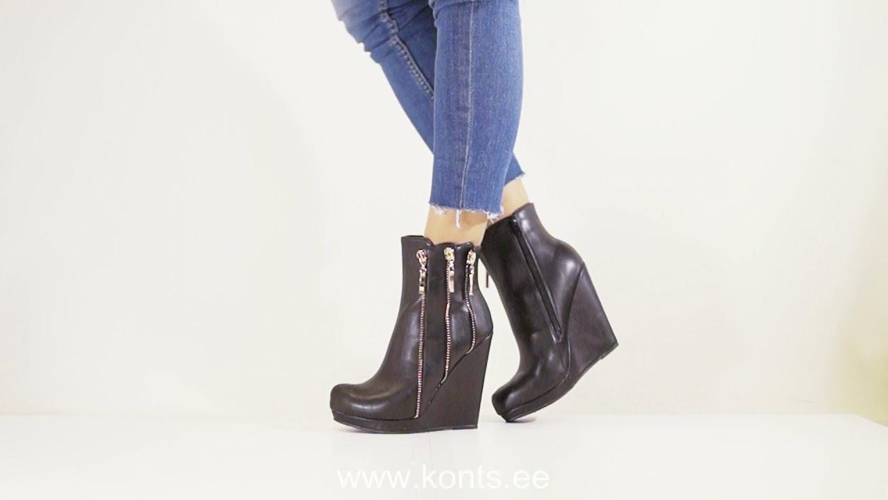 00c883d807c Poolsaapad kiilkontsaga JA24-black | KONTS.EE E-POOD | Kingad, saapad,  jalanõud, rahakotid, püksirihmad, poolvääriskividest käevõrud, kõrvarõngad,  ...