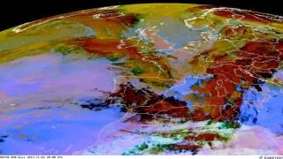 4.11.2013 - umělé počasí nad Evropou