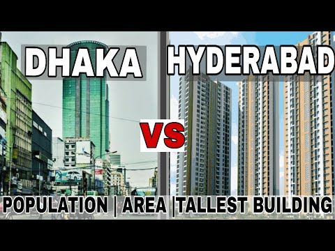 Dhaka VS Hyderabad (2017) Full Comparison|Population |Area|Building|Plenty facts|Dhaka|Hyderabad