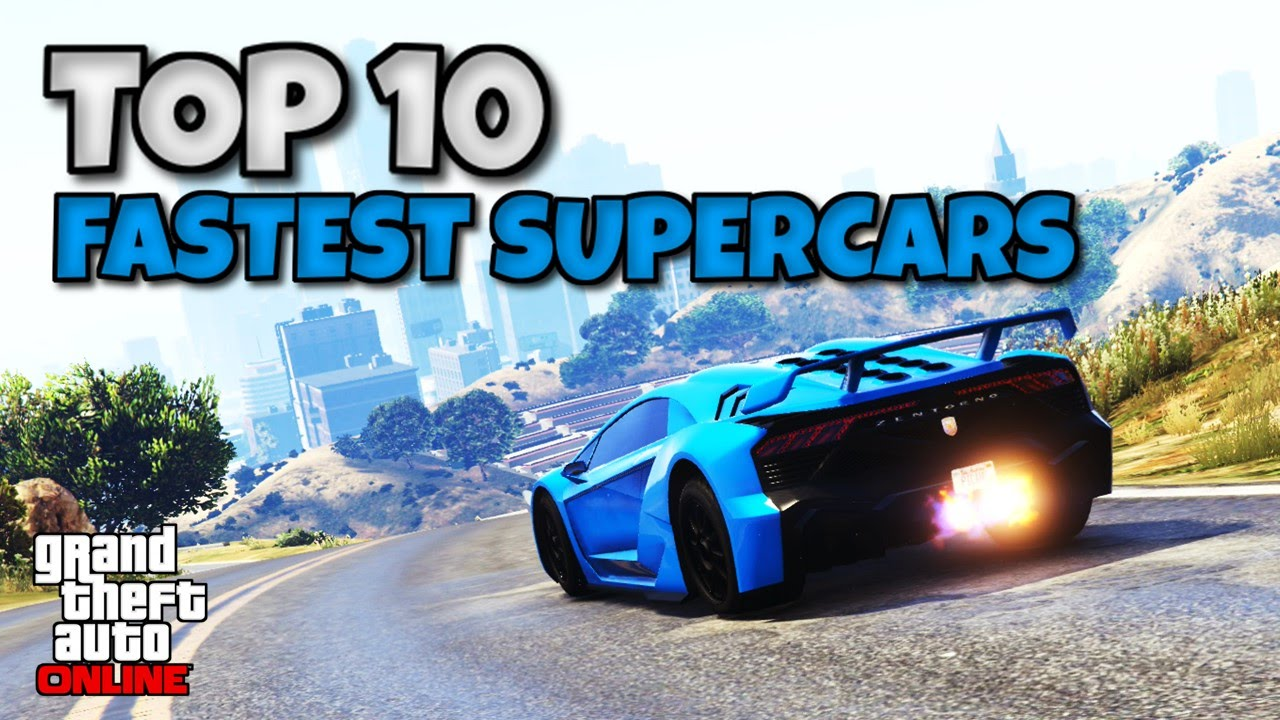 7fb2d56423 Top 10 Fastest Upgraded Supercars Around A Track In GTA Online (GTA V Car  Testing 2016) - YouTube