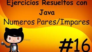 Numeros pares e impares Resuelto con Java