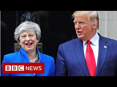 Trump meets May on day two of state visit - BBC News