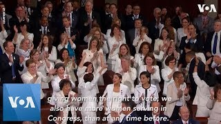 State of the Union: Ocasio-Cortez, Pelosi & Other Female Democrats Cheer Trump Working Women Remark