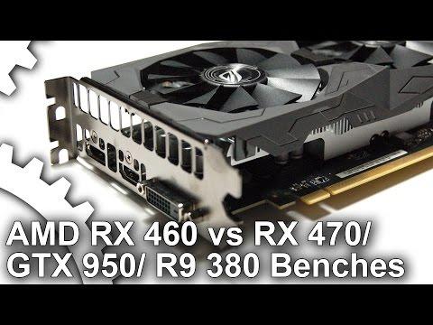 Radeon RX 460 1080p vs RX 470/ GTX 950/ R9 380 Gaming Benchmarks