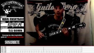 """Como tocar """"War Ensemble"""" (Slayer) by GuitarFiero Mp3"""