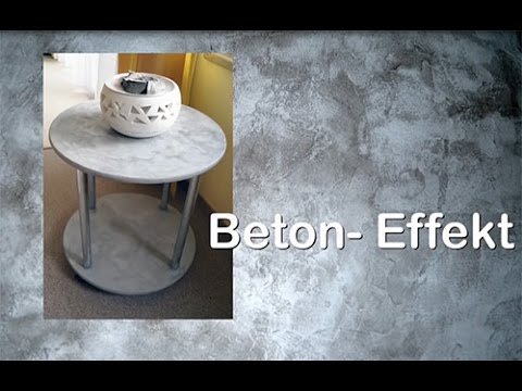 diy upcyling tisch mit beton effekt paste von viva decor youtube. Black Bedroom Furniture Sets. Home Design Ideas