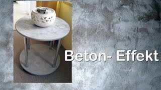 DIY Upcyling Tisch mit Beton – Effekt - Paste von Viva Decor