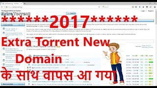 Extera Torrent is Back/ How to download movie from Extra Torrent free in hindi
