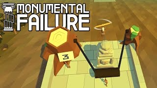 Building Banyon Temple and Moai W/ Giant Slingshot, Tank, Hoverboards! - Monumental Failure Gameplay