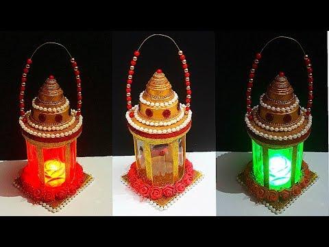 DIY-Lantern/Lamp/Tealight Holder from Plastic Bottle|DIY Lamp/Lantern using recycled material