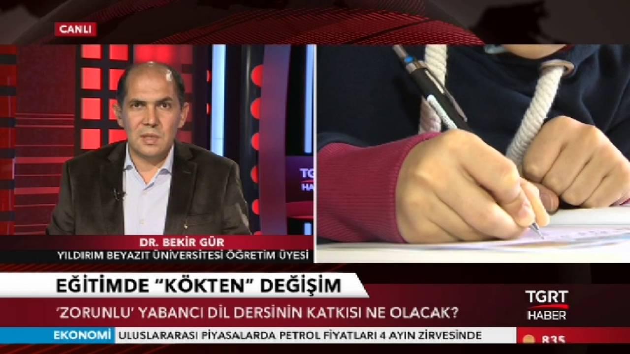 """""""Kaliteli eğitimi yaygınlaştıramıyoruz"""" (TGRT Haber, 6 Ekim 2016)"""