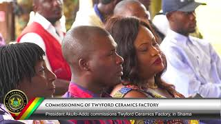 Commissioning of Twyford Ceramics Factory in Shama