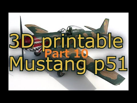 "Part 9 ""planning the landing gear position"". 3D Printable Mustang p51 design in Fusion 360"