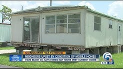 Neighbors upset with moved mobile homes