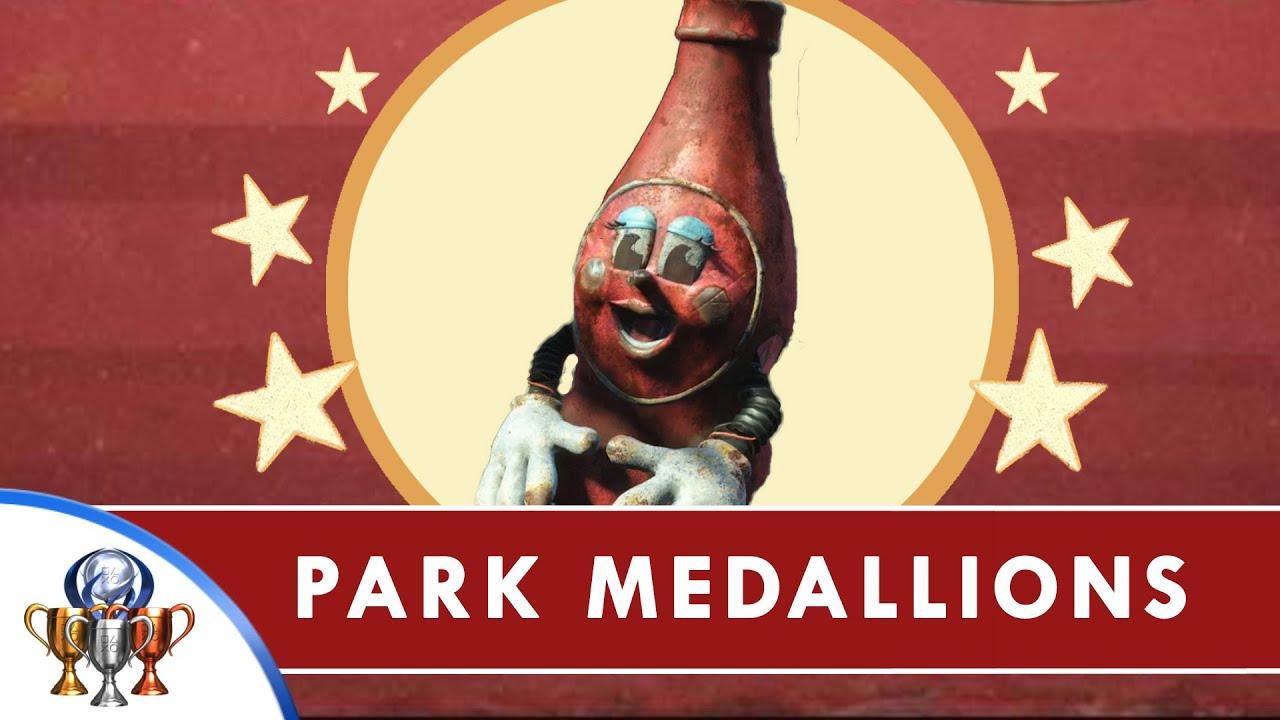 fallout 4 nuka world dlc all park medallions for precious medals